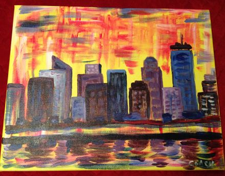 Drinking wine and painting the Boston skyline with The Next 26 http://countrydesignhome.com/2014/02/12/paint-night-boston/