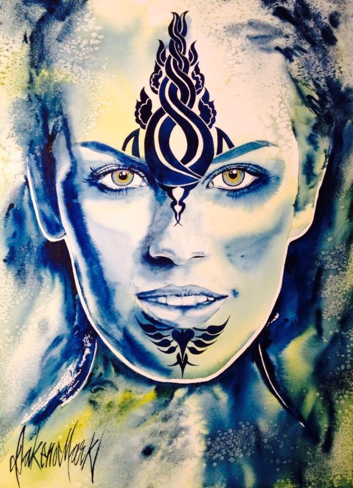 Silver, watercolour by Dakeno Mark