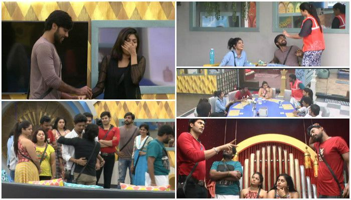 On the fifth episode of Bigg Boss Tamil, Shree was expelled from the show, Oviya had big argument with Snehan and Ganja Karuppu, Juliana celebrated her birthday in Bigg Boss house and Aarav tagged Oviya in another task.