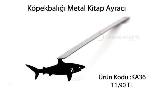 köpekbalığı metal kitap ayracı modelleri