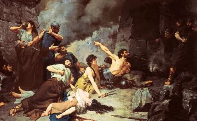 El Año Nuevo el 1 de enero empezó con una guerra de Roma contra Segeda en Zaragoza España
