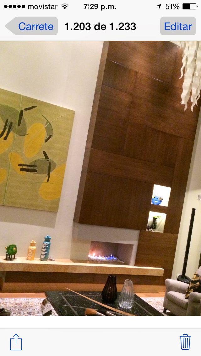 Detalles en madera ideal en una chimenea!!