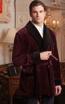 "Mens Silk Smoking Jacket | Mens Velvet Robe, Mens Wool Smoking ... ""My first choice~"""