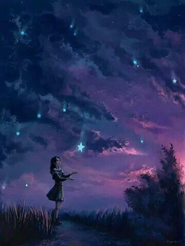 Noite estrelada.