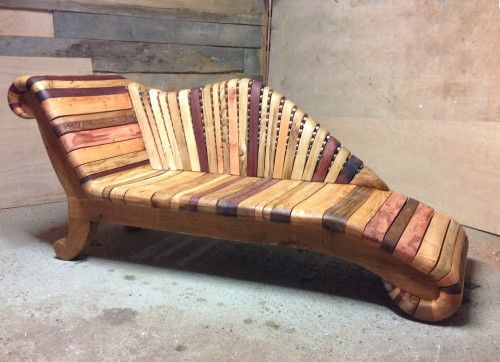 funky wood furniture. Wooden Chaise Longue Funky Wood Furniture
