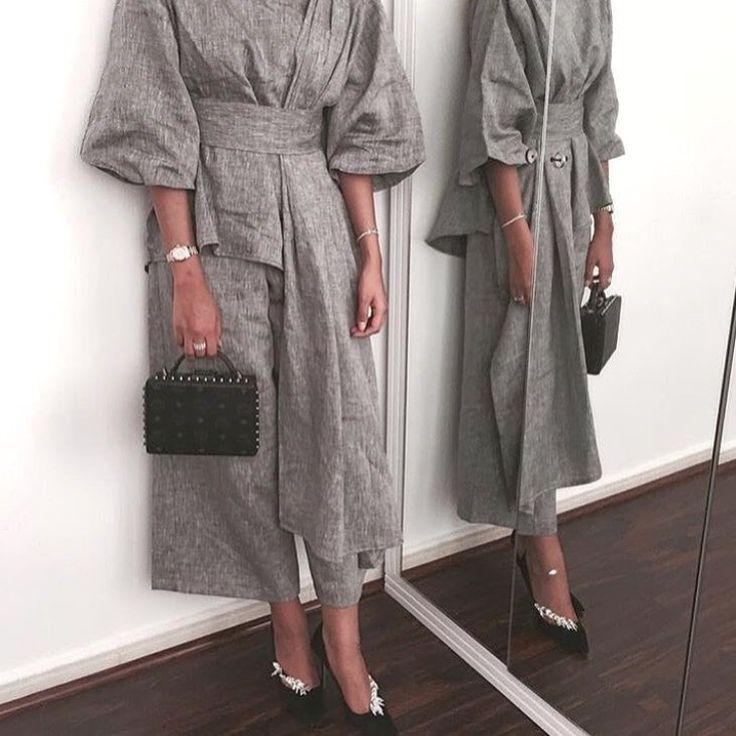IG: Elham.Alarif || IG: Beautiifulinblack || Modern Abaya Fashion ||
