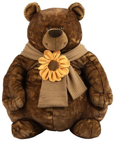 Riesiger Teddybär mit Schal 110cm