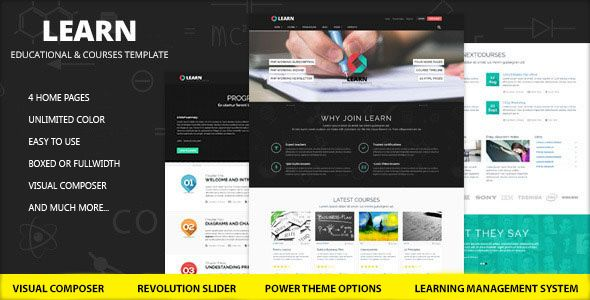 Learn is a WordPress Themes outstandingly powerful, smart learning management system (LMS) based on WordPress platform in which courses, lessons, quizzes and questions are easily made and managed. These courses for sale can be free or premium.  Learn is fully responsive and retina ready, it will look nice no matter device you are viewing it from, be in phones or tablets it will adapt to sreen size and will look nice on retina screens.