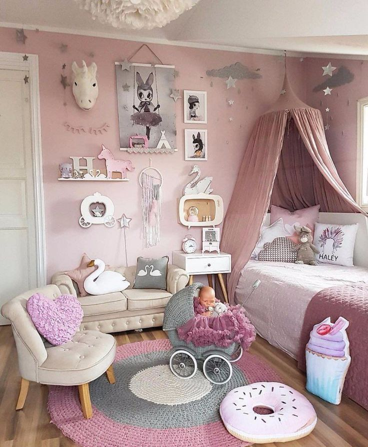 This nursery deserves your attention, a bedroom for a girl princess
