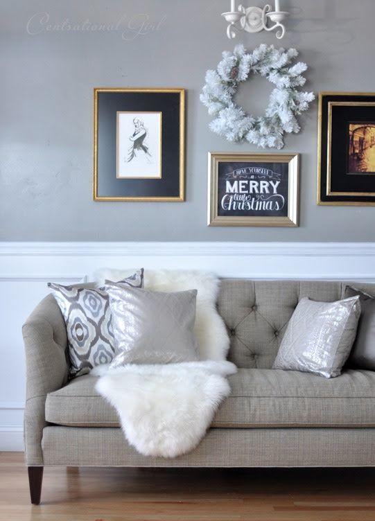 sheepskin rug tufted sofa