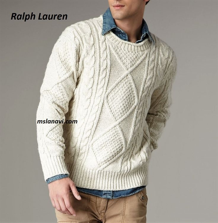 Белый свитер спицами от Ralph Lauren - СХЕМА http://mslanavi.com/2017/10/belyj-sviter-spicami-ot-ralph-lauren/