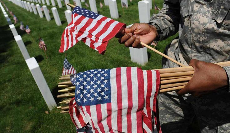 Many Americans gathering to celebrate Independence Day will mark the holiday at Arlington National Cemetery. But for visitors feeling patriotic, there is one item that is banned on the hallowed grounds: a waving American flag.    The