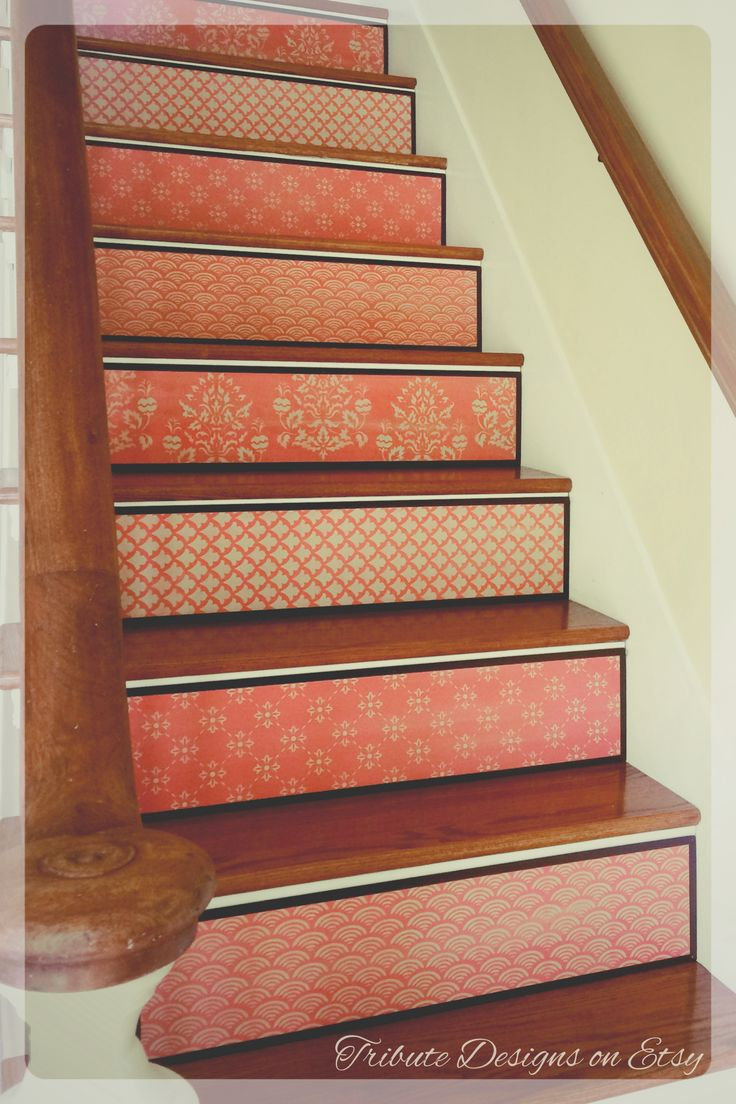 27 best painted stairs painted staircases images on. Black Bedroom Furniture Sets. Home Design Ideas