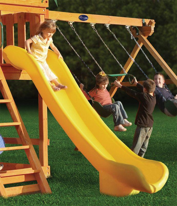 gorilla playsets super scoop slide for 6ft deck heights
