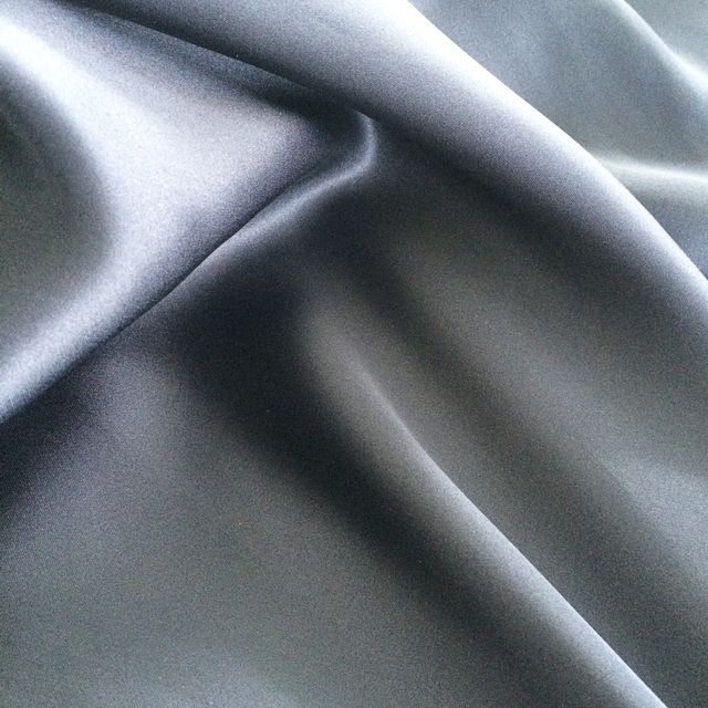Blue Satin Silk
