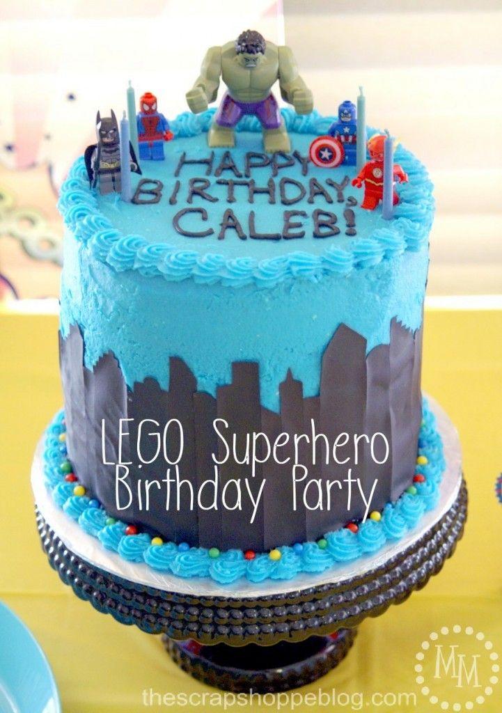 Cake Decorations Taunton : lego-superhero-birthday-cake Two-Cup Tuesday Pinterest Lego, Superhero and Birthday parties