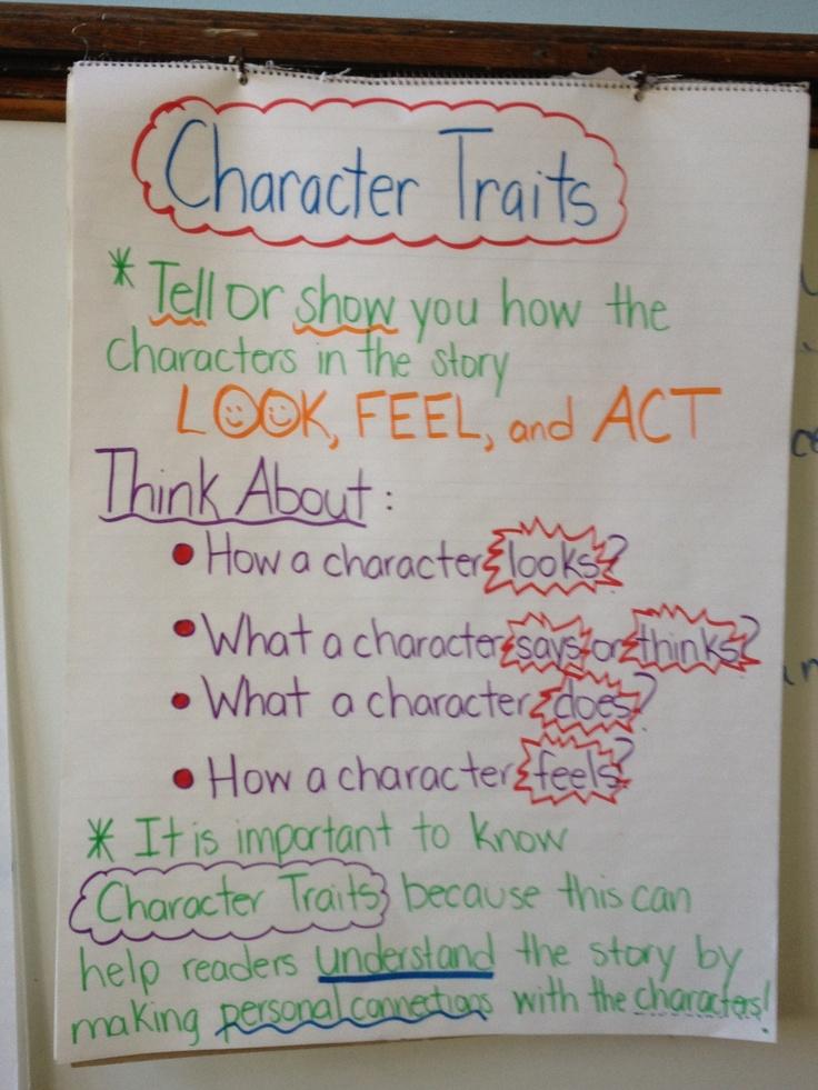 Character Traits Anchor Chart Education Pinterest