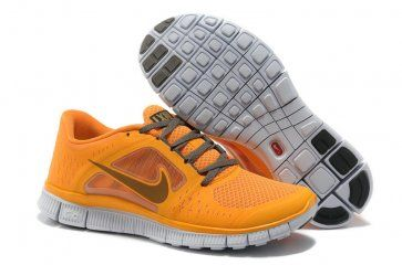 Nike Free Run 3 Womens Yellow Gray 2013 Running Shoes