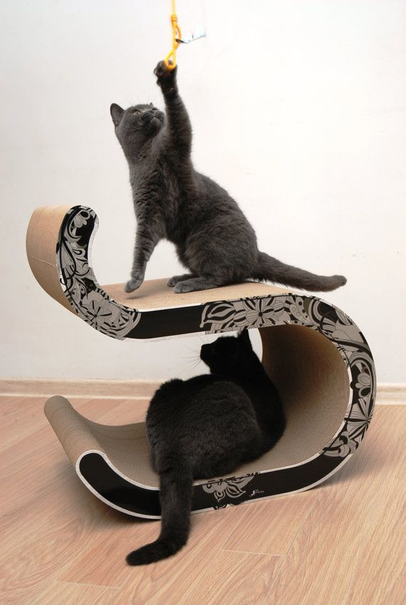 MEOW cats scratching post MEOW Wave 03 by MeowForCatsShop on Etsy
