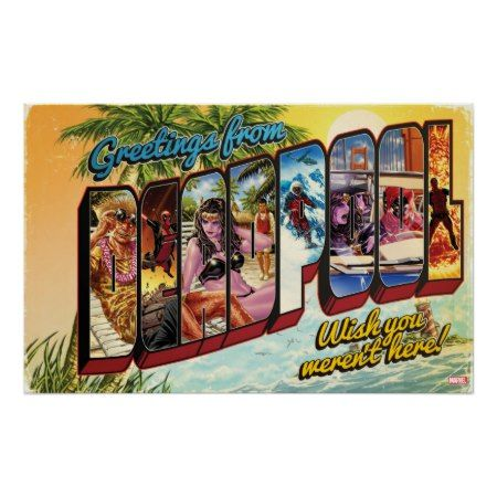 Deadpool Vacation Postcard Poster - tap, personalize, buy right now!