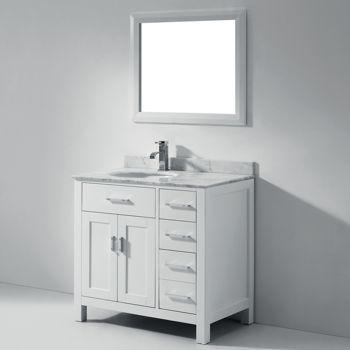 Cosrco - Studio Bathe Kalize 36 White Single Vanity with Mirror, $1249