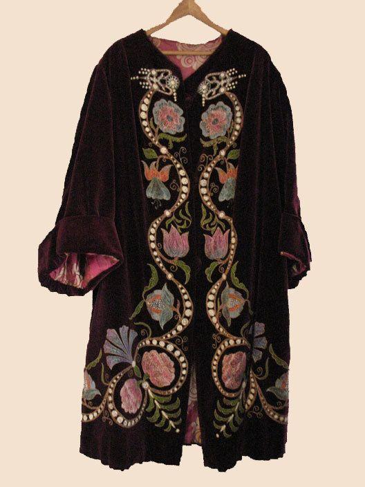 1920's Velvet Decorated Opera Coat by worldlyandwise on Etsy
