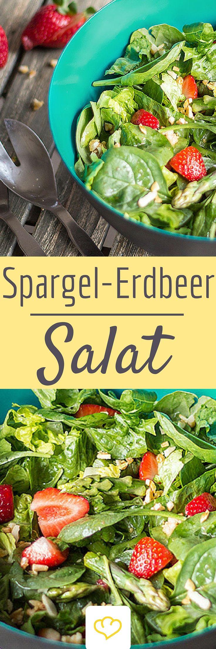 Spargel-Salat mit Erdbeeren - perfekt für schöne Grillabende oder ein leichtes Mittagessen an der frischen Luft.