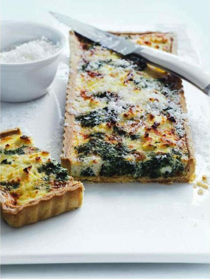 spinach & ricotta quiche.  donna hay        I would use goat cheese instead