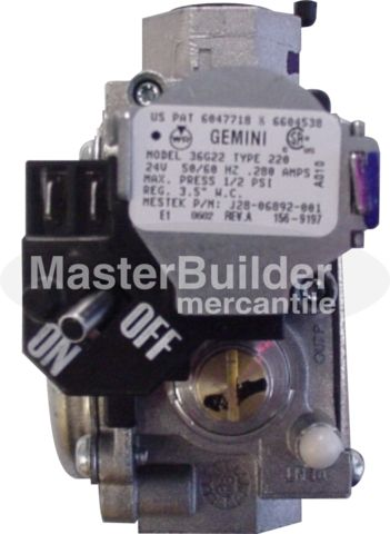 Sterling J28R06892-001 Gas Valve Direct Spark NG (GG / RF / TF / SF)