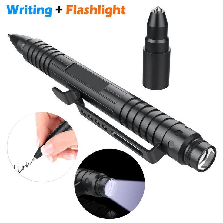 EDC Self Defense Tactical Pen Flashlight Combo