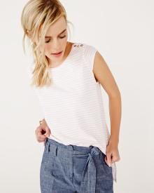 Cap sleeve t-shirt with stripes