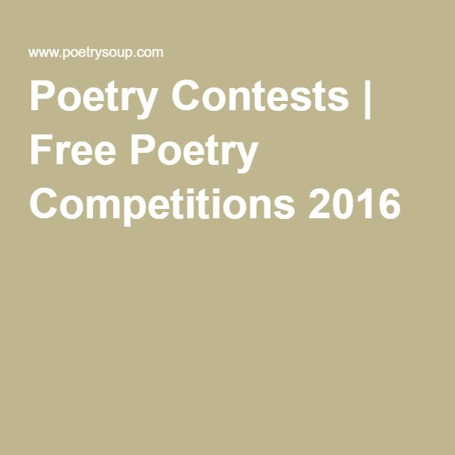 Poetry Contests | Free Poetry Competitions 2016