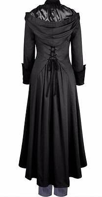 CHIC STAR, CHICSTAR Black Gothic, Romantic Hooded Trench Coat Szs 8-28