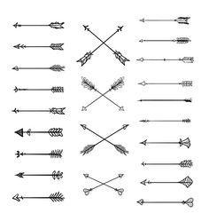 Doodle Tribal Arrows Clipart: 23 vector arrows by BlackCatsMedia
