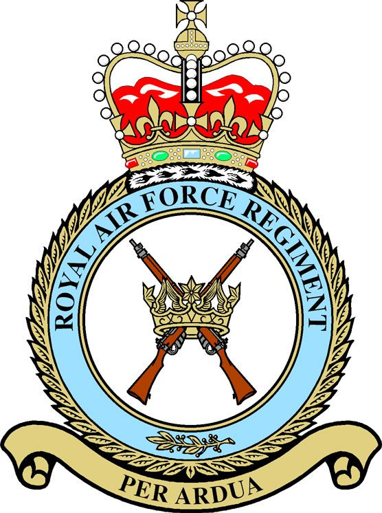 RAF Regiment Badge. (Table)