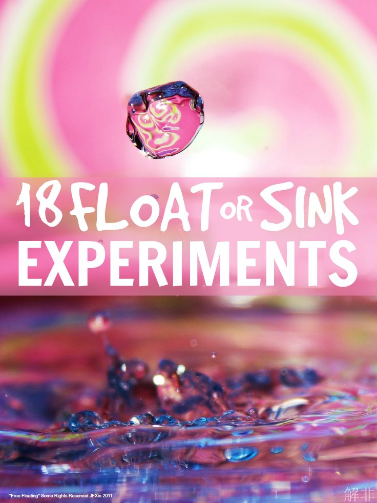 Fun science experiments for kids that let them explore what floats and what sinks ... great for pre-school and up