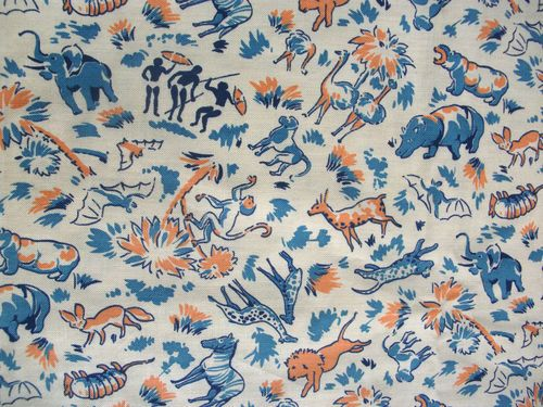 29 best images about vintage kids print cartoon on for Childrens jungle fabric