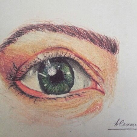 Drawing by @Alexandrammh  #eye#drawing#colored#pencil#romania#desen