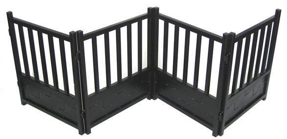 Tall Freestanding Iron Dog Gate
