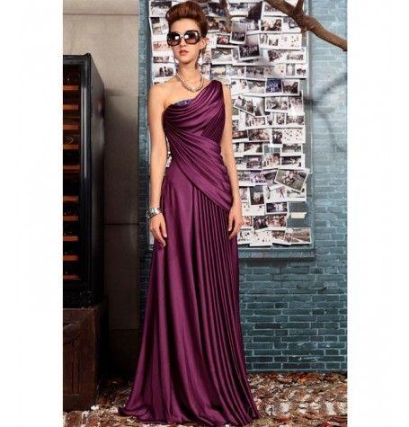Purple Satin Dress by Belonda