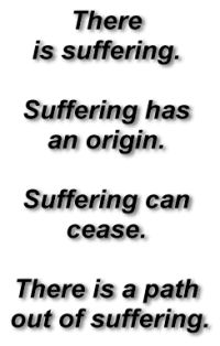These are the 4 Noble Truths. The 4 Noble Truths were created by Siddhartha. Siddhartha is the creator of Buddhism. Hew as given the nick-name Buddha, which then became the religious name Buddhism.