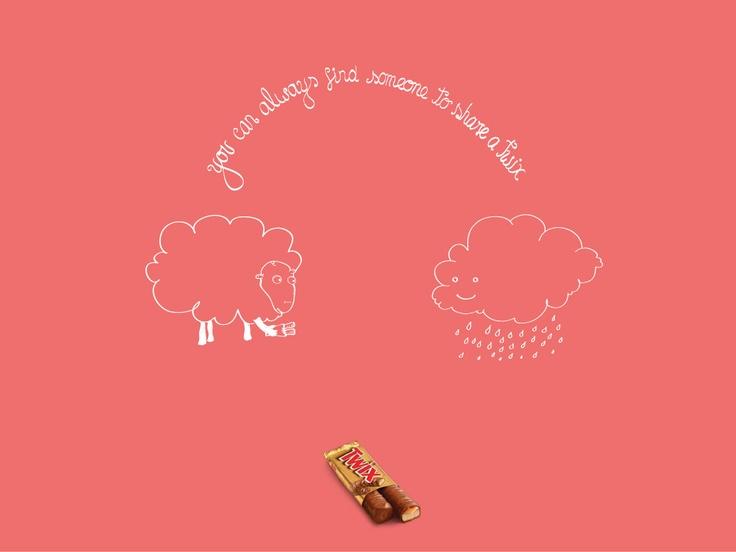 Campaign: Twix Share: Cloud Sheep / Advertiser: Mars / Agency: Impact BBDO Dubai / Country: UAE / Executive Creative Director: Fouad Abdel Malak / Creative Director: Sebastian Alvarado / Art Director: Sebastian Alvarado / Award: Food / Drink Emerald
