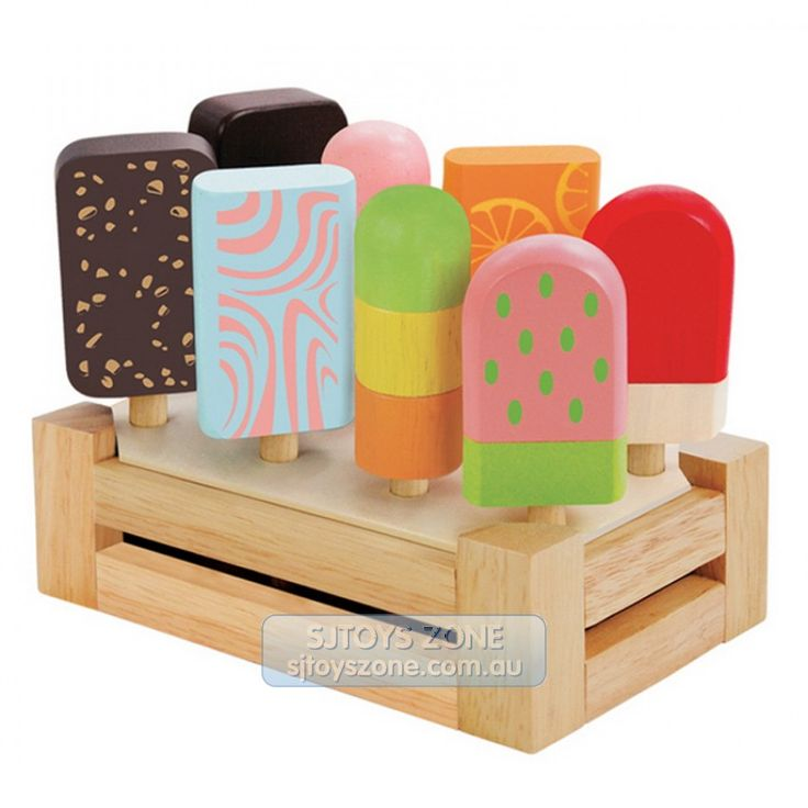 Wooden pretend play icy pop