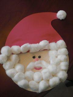Weihnachtsmann aus Pappteller