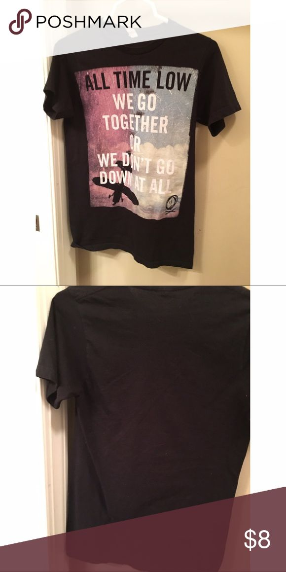 """All Time Low Band Tee All Time low band tee from hot topic,featuring lyrics from their song """"A Love Like War."""" In great condition and comes from a clean,smoke free,pet free home. Feel free to make an offer or bundle with other items! Hot Topic Tops Tees - Short Sleeve"""