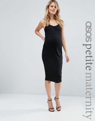 Vestido estilo camisola a media pierna de ASOS Maternity PETITE