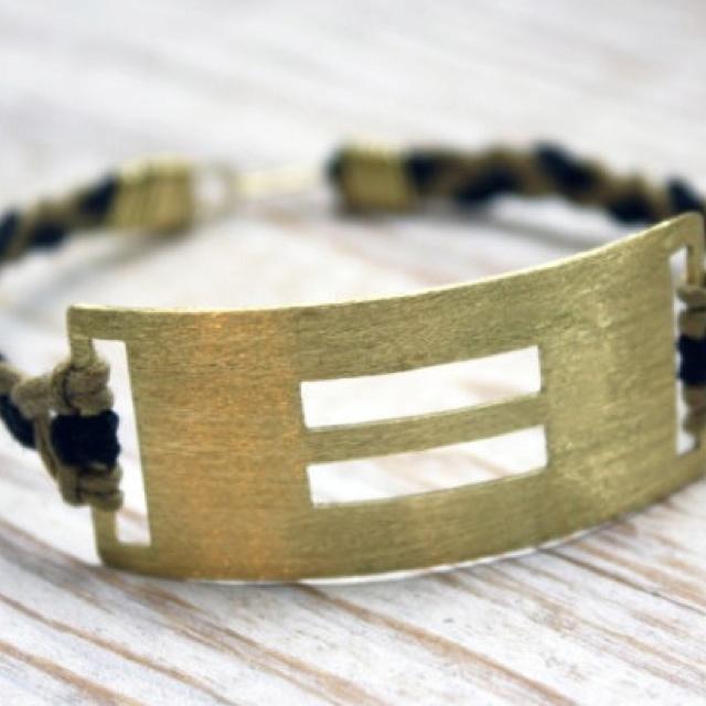 Brass equality bracelet. #lgbt #equality