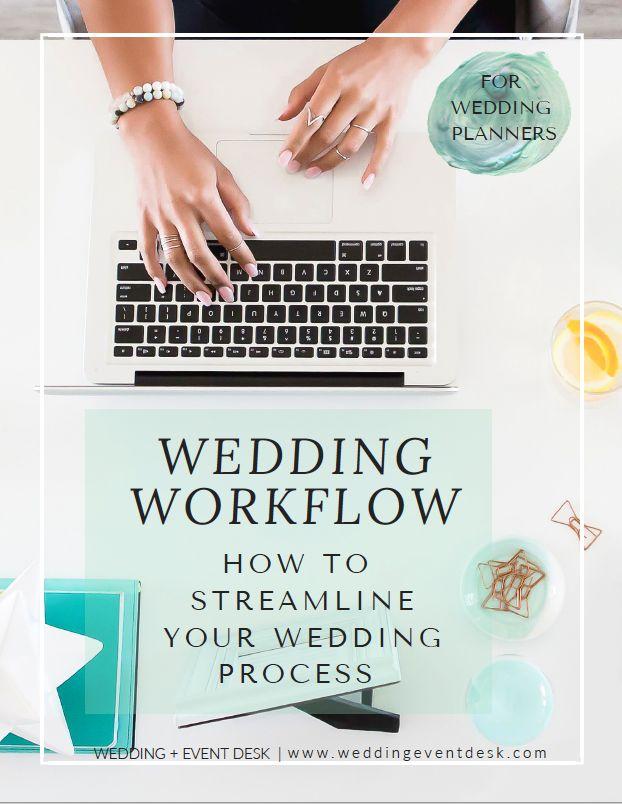 FREE Downloadable wedding workflow- how to streamline your wedding process