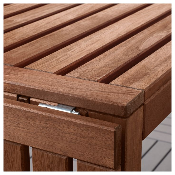 IKEA - ÄPPLARÖ Table + 4 reclining chairs, outdoor brown stained