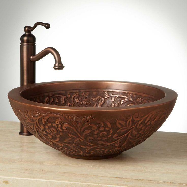 """18"""" Coram Double-Wall Copper Vessel Sink"""